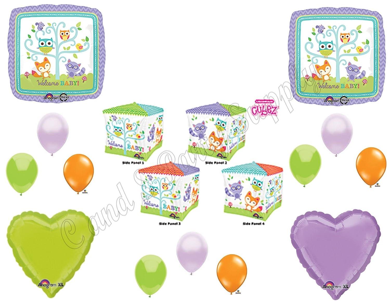 新しい。Woodland Friends CubezベビーシャワーBalloons Decoration Supplies Fox Chevron by Anagram   B014OO0U8Y