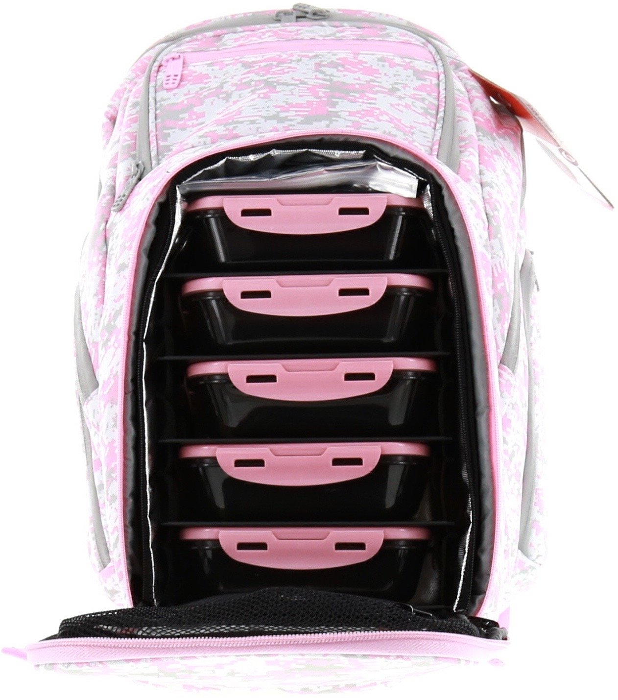 6 Pack Fitness Expedition Backpack W/ Removable Meal Management System 500 Pink & Grey Digital Camo w/ Bonus ZogoSportz Cyclone Shaker by 6 Pack Fitness (Image #5)