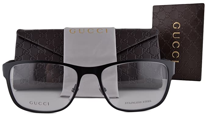 Amazon.com: Gucci gg2251 anteojos 55 – 17 – 140 negro Mate ...