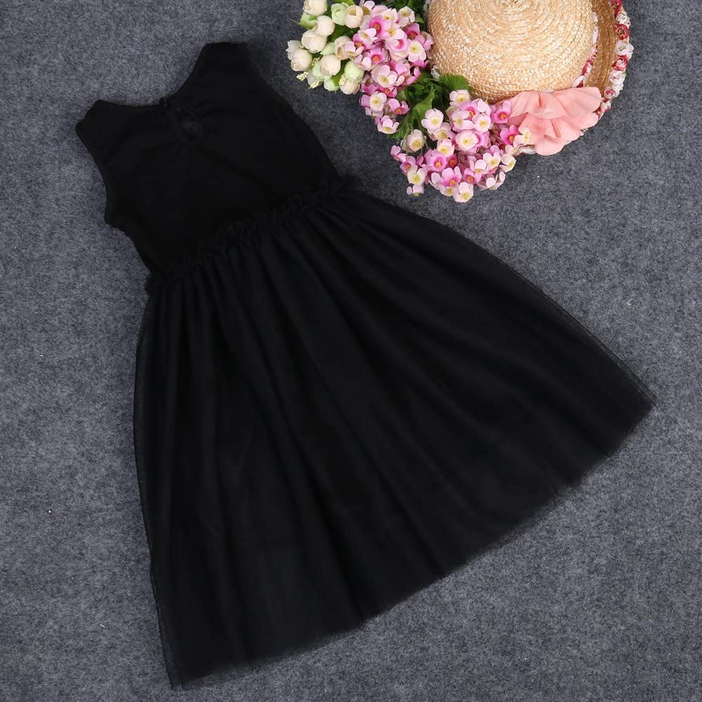 Toddler Baby Girls New Lace Sundress Princess Tutu Sleeveless Dress Kids Cat Party Costume Ball Gown