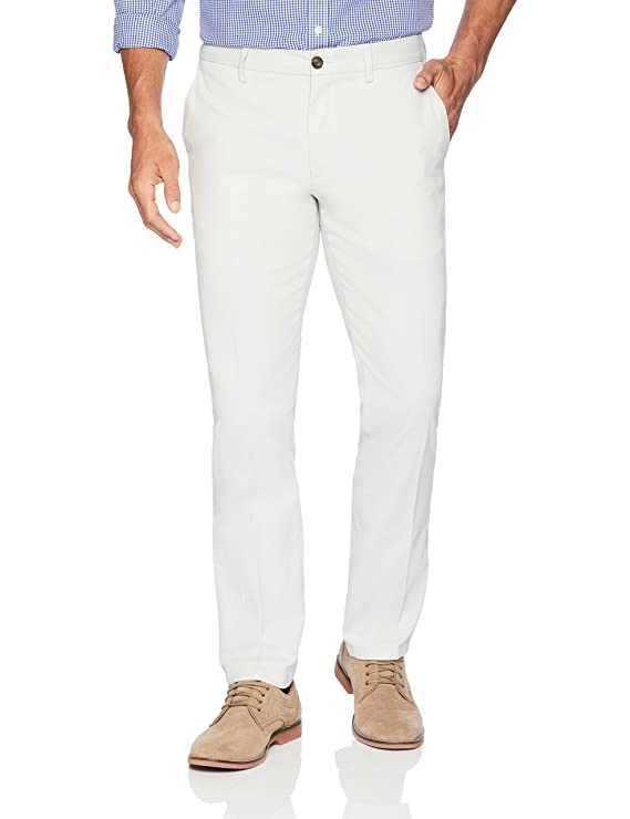 White Wrinkle Resistant Chino Pants. Ideal for Miami Vice look. All Sizes from 28 to 42 waist