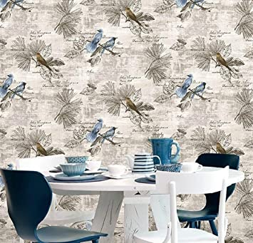 Buy Lifavovy Removable Wallpaper Peel And Stick Decorative Contact Paper Birds Floral Self Adhesive Shelf Liner Wall Art Decor Roll 17 7 X 393 Online At Low Prices In India Amazon In