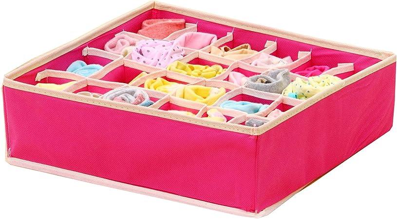 drawihi almacenamiento caja plegable caj/ón sujetador calcetines corbatas divisor Closet Container Kit de separador organizador de ropa interior juego de 4