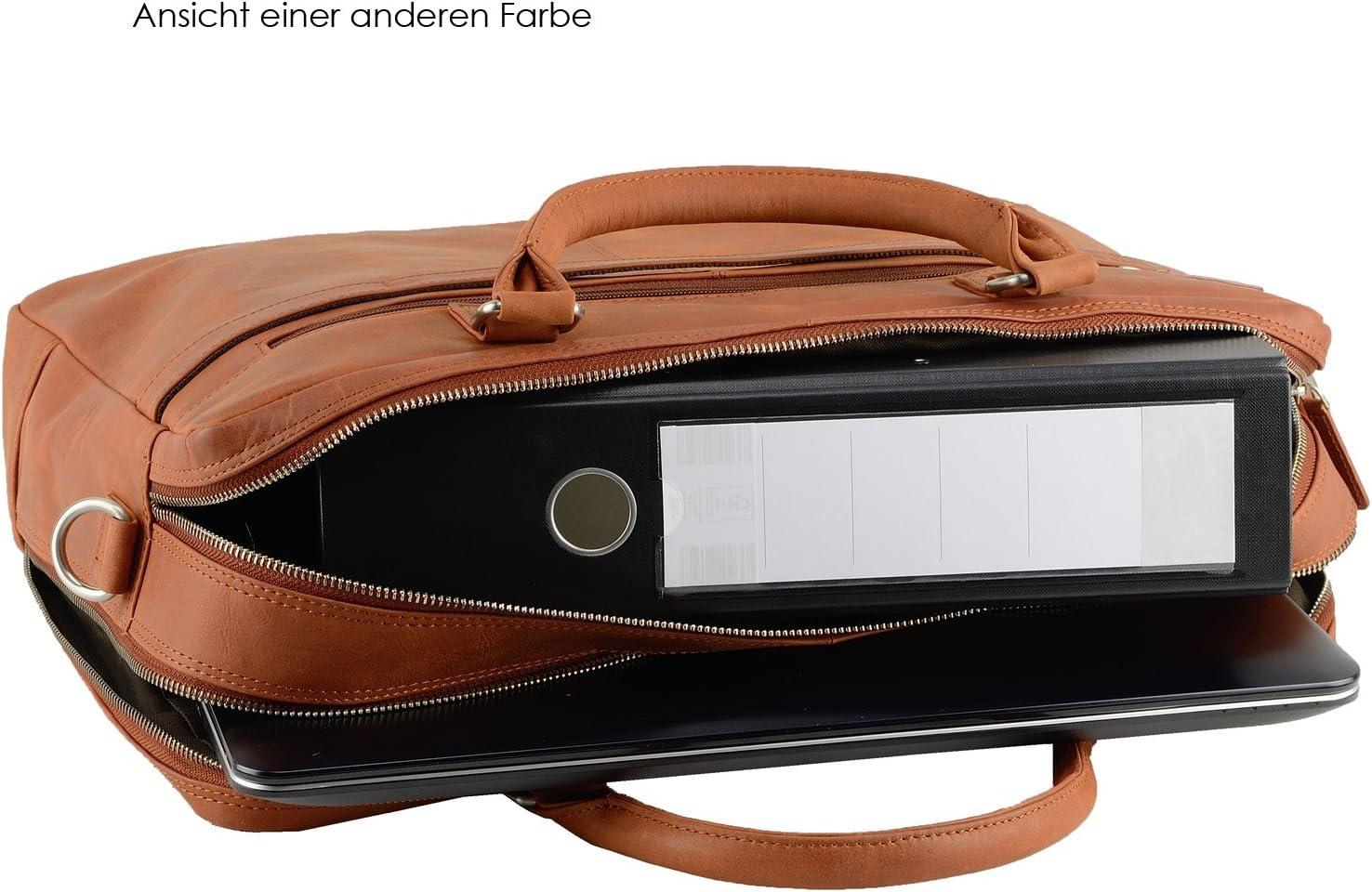 FEYNST Leder Aktentasche Umh/ängetasche 15,6 Zoll Laptoptasche Notebooktasche Herren Damen Antique