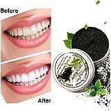 LuckyFine Polvere Denti al Carbone di Bambù di Naturale Carbone Attivo Sbiancante Denti Rimuovere le Macchie dei Denti