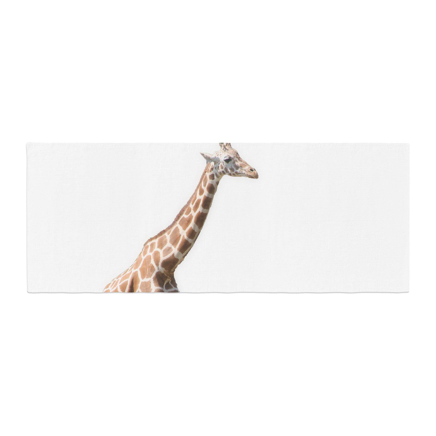 Kess InHouse Sylvia Coomes Giraffe Animals Photography Bed Runner, 34'' x 86''