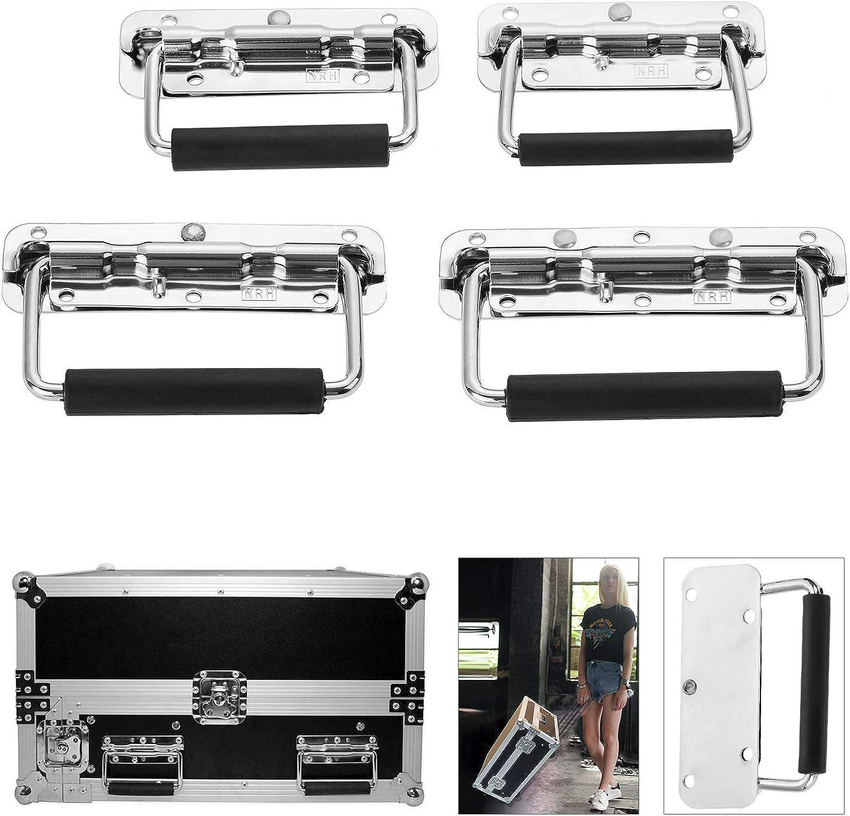 110 mm longitud Tirador para caja de equipaje de aluminio con asa para caja de madera con resorte de metal