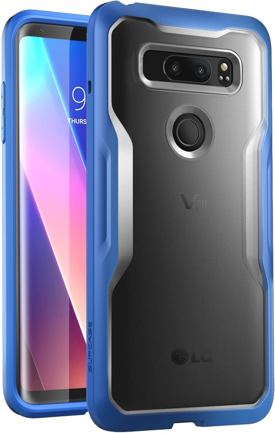 LG V30 Case, SUPCASE Unicorn Beetle Series Premium Hybrid Protective Clear Case for LG V30, LG V30s, LG V30 Plus 2017 Release, Retail Package(Frost/Navy)