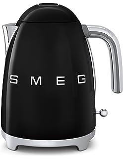 Smeg KLF01BLEU - Hervidor eléctrico, color negro (material acero inoxidable, potencia 2400 W