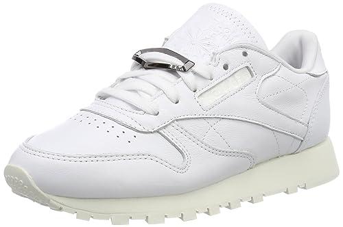Reebok Classic Leather Hardware, Zapatillas para Mujer, Blanco (White/Chalk), 35.5 EU: Amazon.es: Zapatos y complementos
