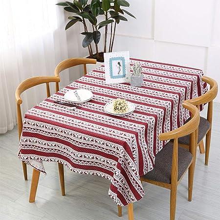 GSJJJ: Mantel de Navidad, de lino y algodón, diseño de rayas de ...