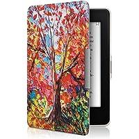 kwmobile Funda para Amazon Kindle Paperwhite - Carcasa para e-Reader de [Cuero sintético] - Case con diseño de árbol (para Modelos hasta el 2017)