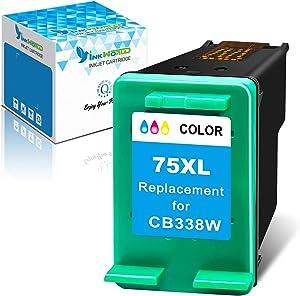 InkWorld Remanufactured 75XL Ink Cartridges Replacement for HP 75 Used for PhotoSmart C4280 C5280 C4480 C4250 C5550 C4400 C4580 C4200 C5580 DeskJet D4360 D4260 OfficeJet J5780 J5740 Printers (1 Color)