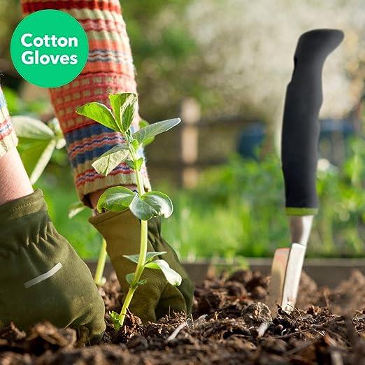 Vremi Juego de herramientas de jardín de 9 piezas - Herramientas de jardinería con guantes de jardín y bolsa de jardín - Regalos de jardinería Juego de ...