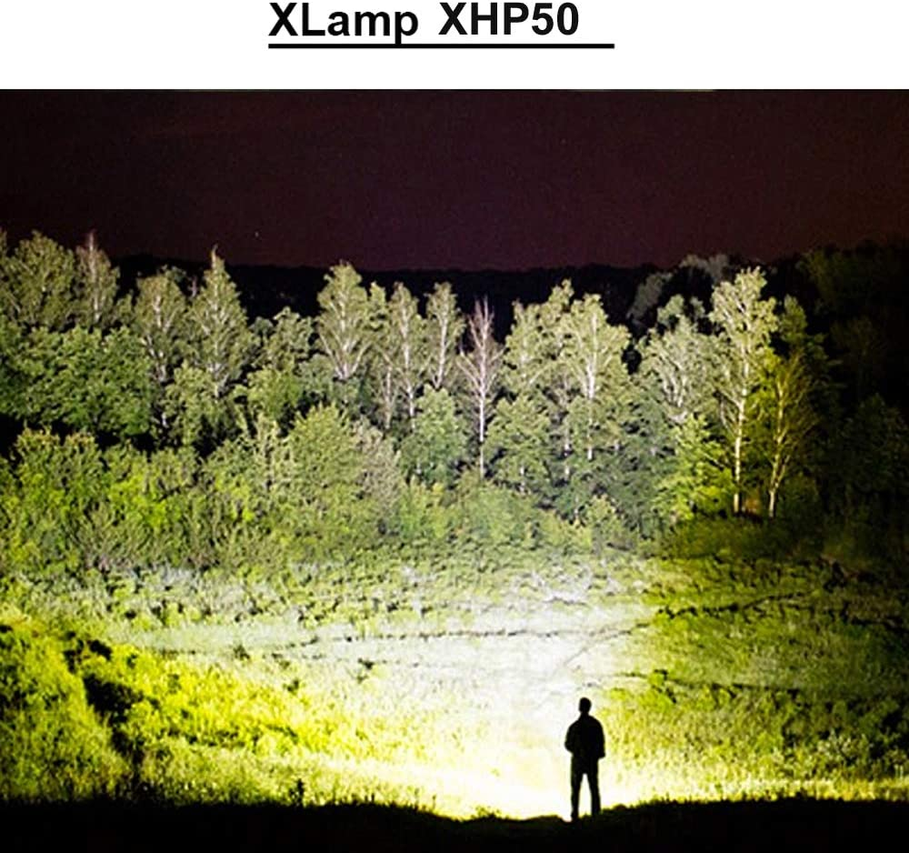 BESTSUN Lampe de Poche led puissante 2500 Lumens torche led Zoomable pour M/énage XHP50 Torche Lampe LED Rechargeable La Randonn/ée le Camping Durgence Batterie et chargeur inclus