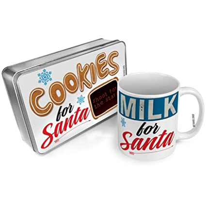 Amazon Com Neonblond Cookies And Milk For Santa Set Shoot For The