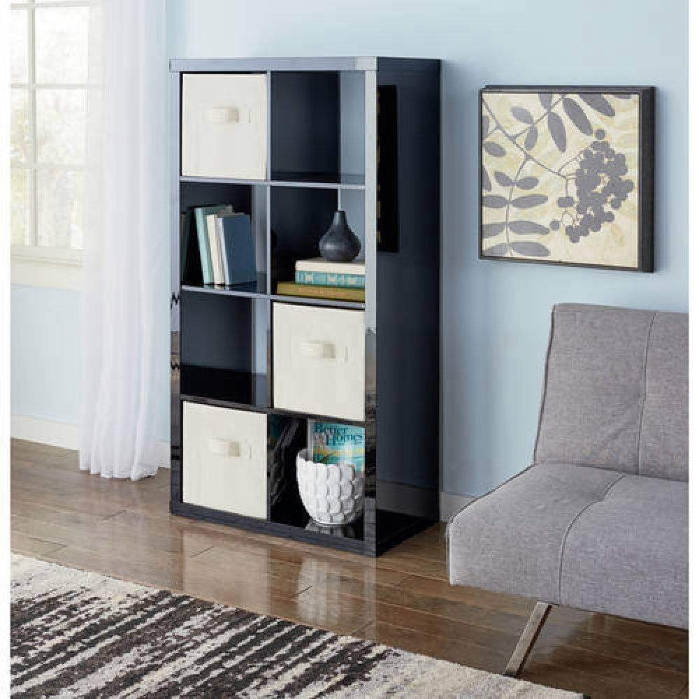 Modern Better Homes and Gardens 8-Cube Organizer, by Better Homes and Gardens (High Gloss Black Lacquer)