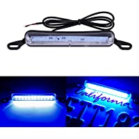 LivTee Extremely Bright License Plate Frame LED License Plate Lights Lamp, Blue