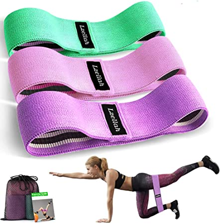 Premium Non Slip Fabric Quality Resistance Bands 3 Pack Booty Excercise Set