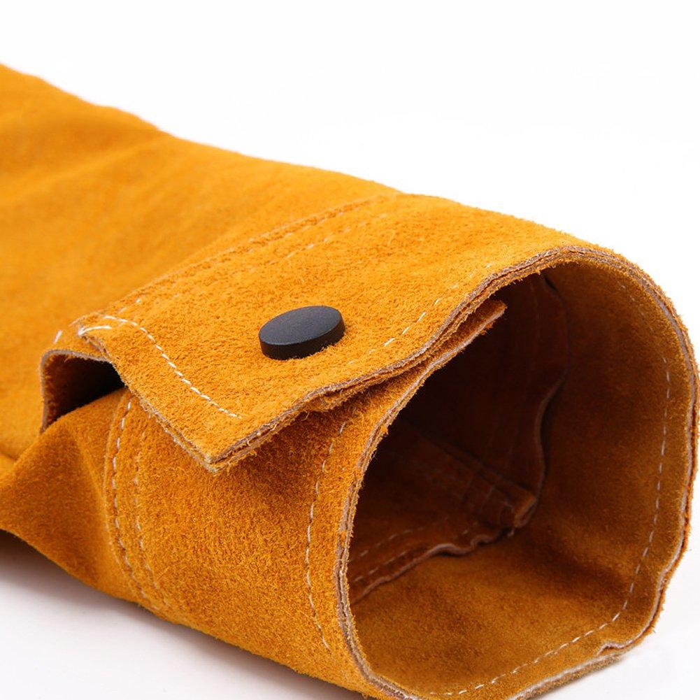 hct10 Protecci/ón para el brazo resistente a los cortes Burn soldadores calor resistente a las llamas alambre de acero brazalete brazo protecci/ón soldadura mangas