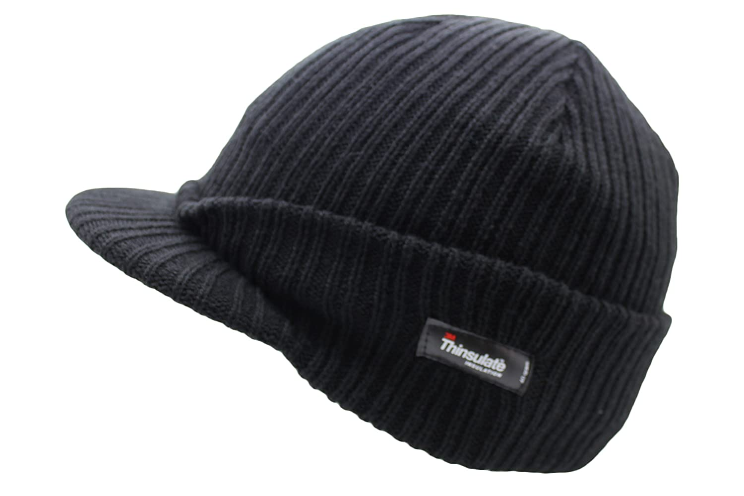 17fbd9c56ff Thinsulate Insulation Men s Peak Beanie Hat  Amazon.co.uk  Kitchen   Home