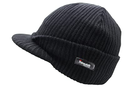 Thinsulate Insulation Men s Peak Beanie Hat  Amazon.co.uk  Kitchen ... a6b3e1a85b5