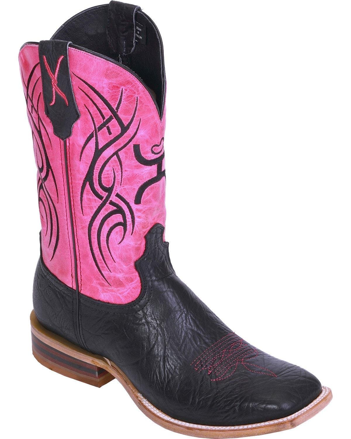 Twisted X Women'S Hooey Boot, Color Black/Neon Pink (Why0001) B00P1MM90Q 7 B(M) US|Black