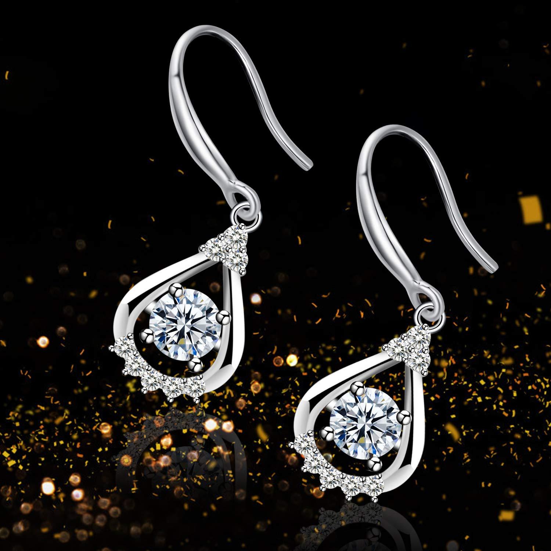 /étoile Boucles doreilles Pendantes Argent Sterling 925 Boucles doreilles Bijoux Unique Cadeau Parfait F/ête des M/ères Cadeau Amilril Boucles doreilles
