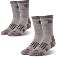Hiking Trekking Outdoors Socks, ZEALWOOD Merino Wool Cushion Crew Socks,Warm Winter Socks