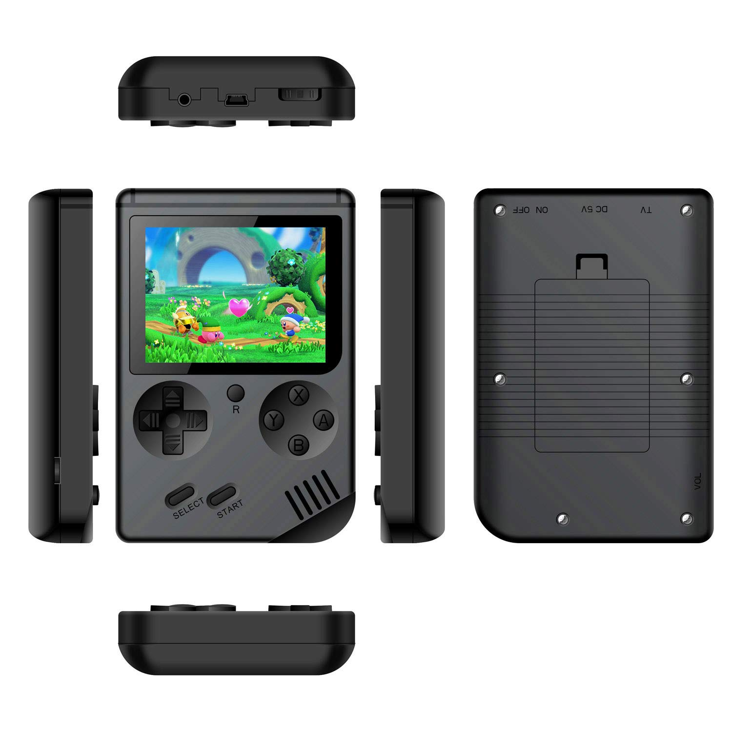 Handheld Games Console for Kids Adults - Retro Video Games Consoles 3 inch Screen 168 Classic Games 8 Bit Game Player with AV Cable Can Play on TV (Black) by Chilartalent (Image #5)