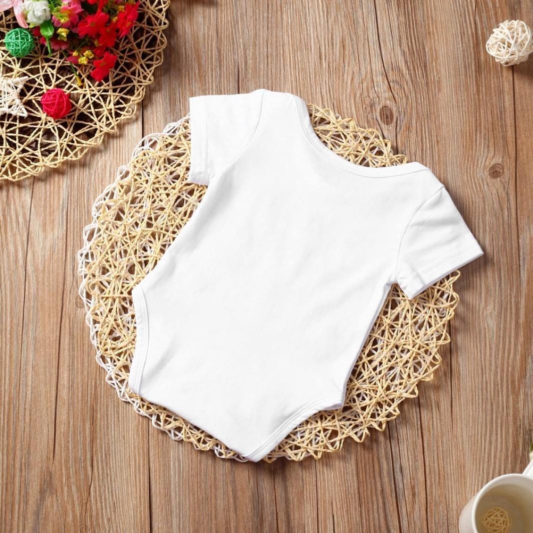 Infant Baby Boys Girls Love Pattern Letter Romper Clothes Nevera Toddler Short//Long Sleeve Playsuit