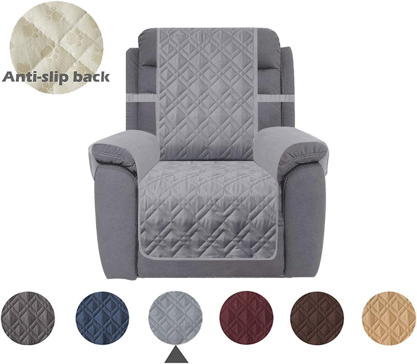 23, Sand Dog Chair Cover Furniture Protector Ideal Recliner Slipcovers for Pets and Kids Ameritex Waterproof Nonslip Recliner Cover Stay in Place