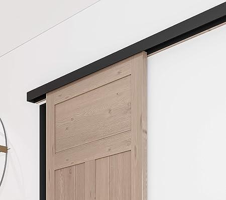 Diyhd Black Box Track Heavy Duty Bypass Exterior Sliding Barn Door Hardware Other Door Hardware Door Hardware