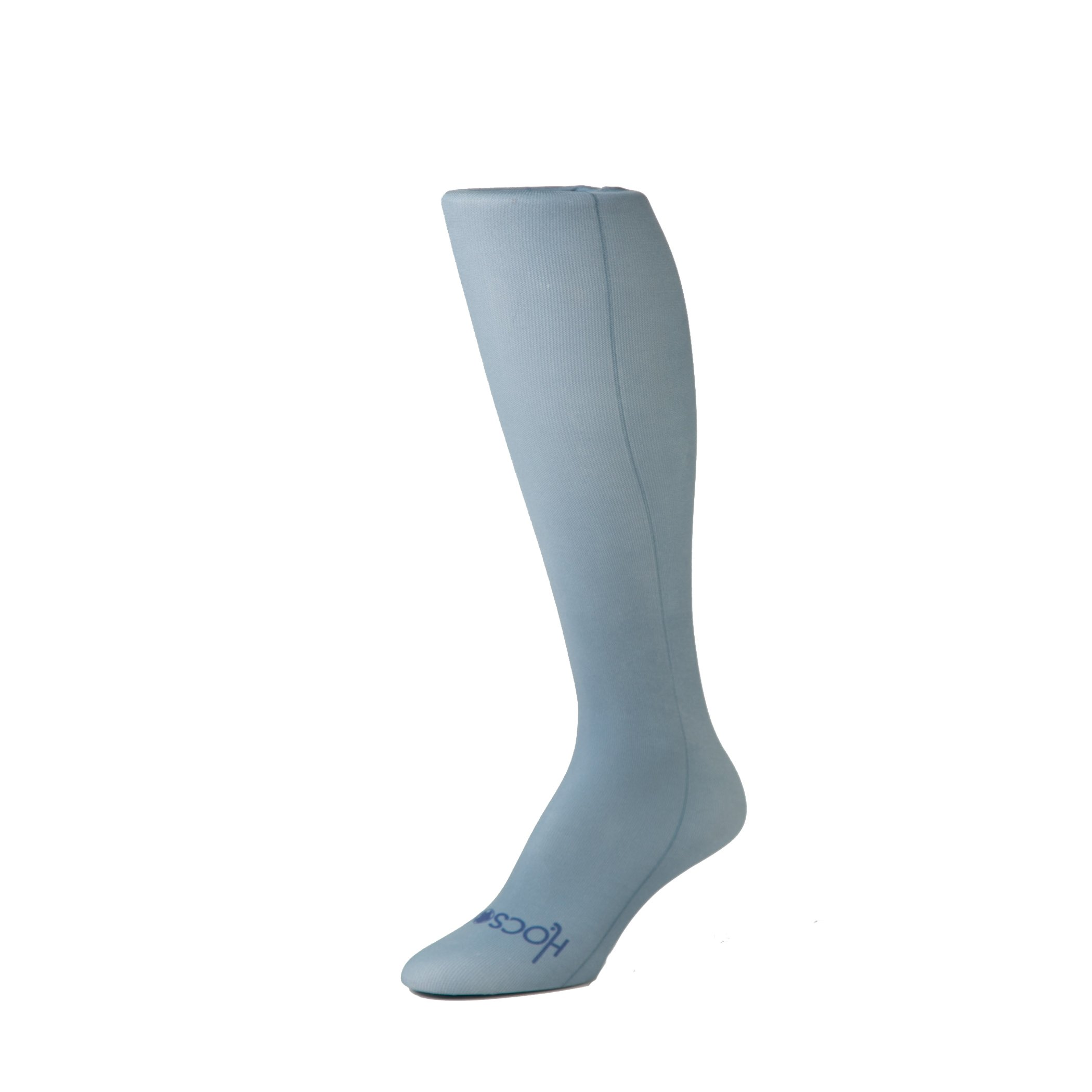 HOCSOCX WOMEN'S/GIRL'S SOLID COLOR SHIN GUARD LINER SOCKS (Women's, Steel Grey)