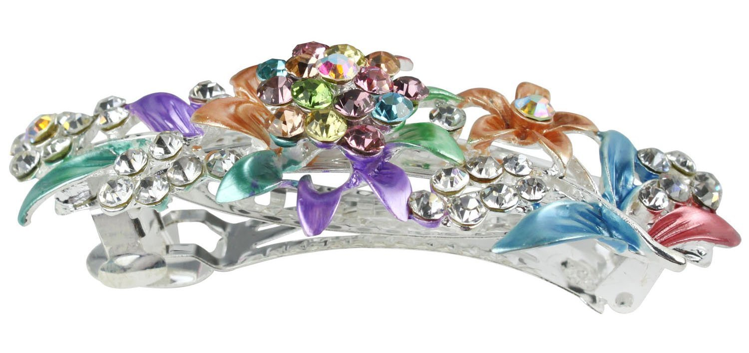 Amazon.com : Beautiful Jewelry Flowers Crystal Hair Clips - for ...