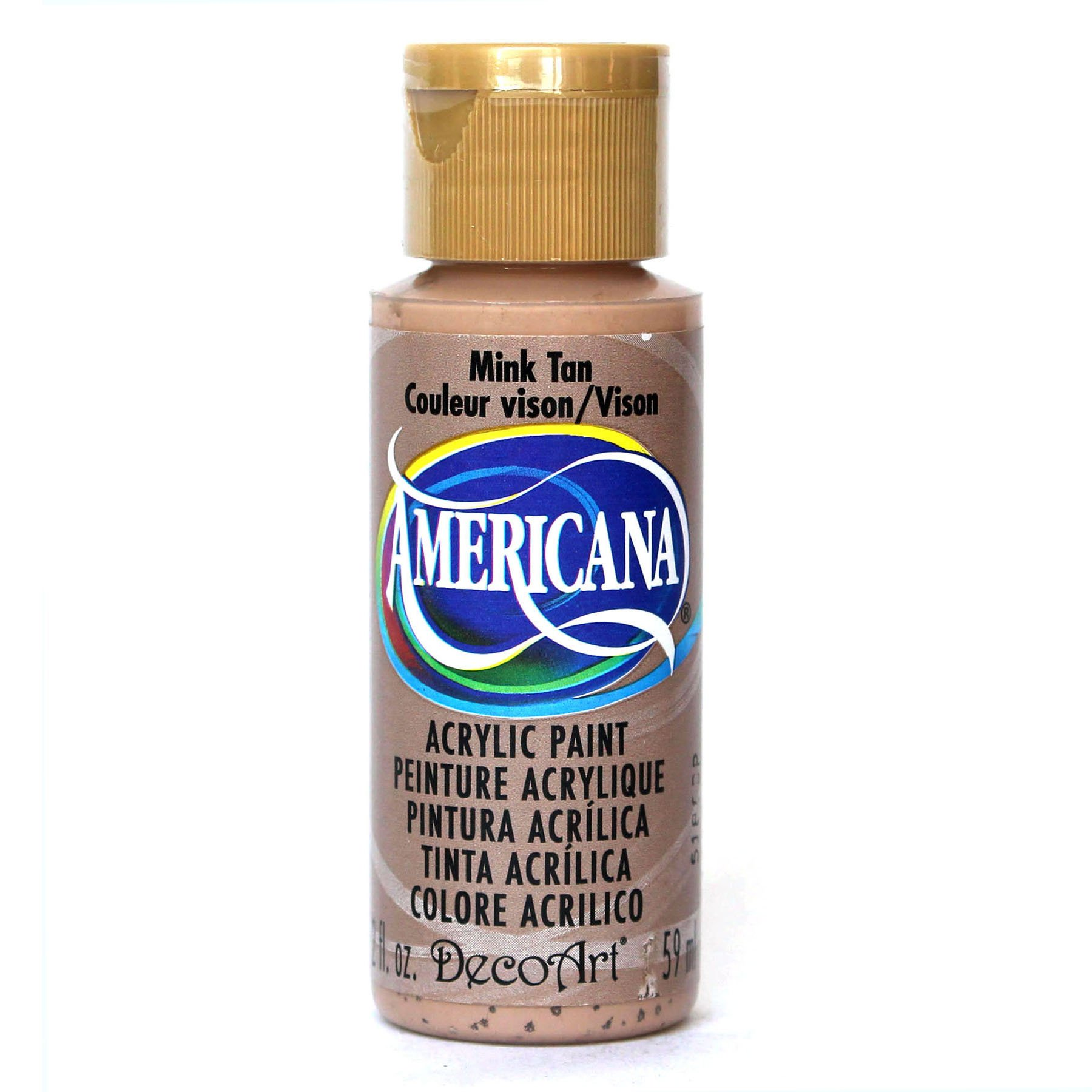 DecoArt Americana Acrylic Paint, 2-Ounce, Mink Tan