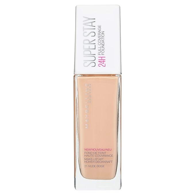 84f0956ec Maybelline New York Base de Maquillaje Superstay 24H (Larga duración), Tono 21  Nude Beige: Amazon.es: Belleza