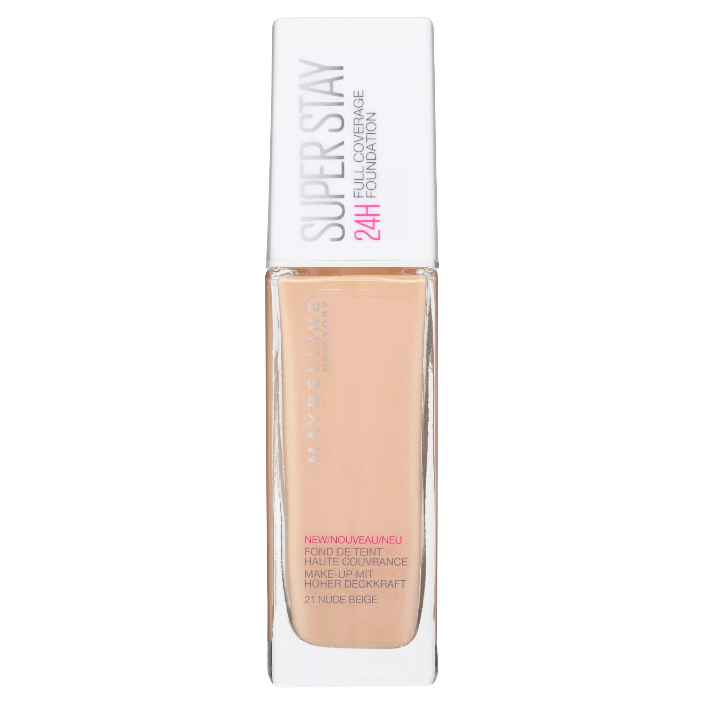 a4d5b3739 Maybelline New York Base de Maquillaje Superstay 24H (Larga duración), Tono  21 Nude Beige