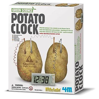 4m de la pomme de terre Horloge