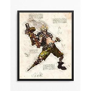 Amazon com: Overwatch Print, Mercy Print, Overwatch Poster