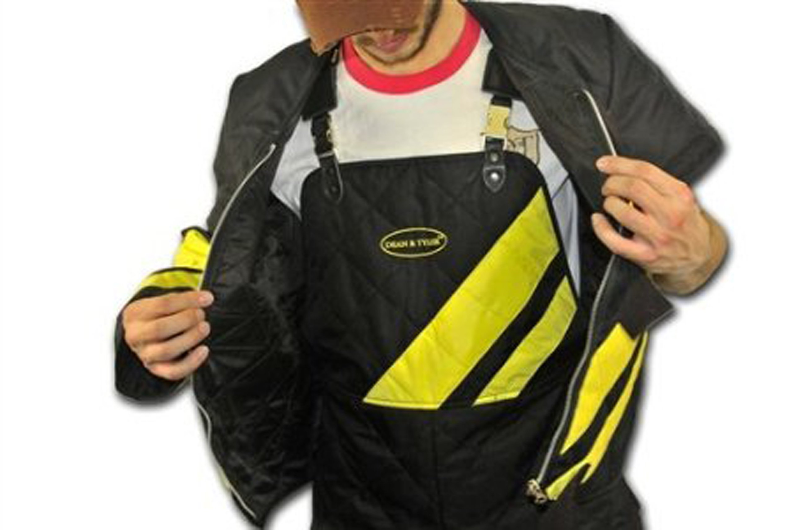Dean and Tyler Scratch Suit, Neoprene Nylon - Black/Yellow - Size: Large (J: 42-Inch, P: 36-Inch) by Dean & Tyler (Image #4)