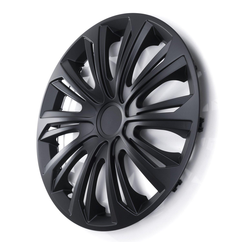 15 NRM Strong Wheel Covers Strong 4 x Universal Wheel Covers Set of 4 Black Matt