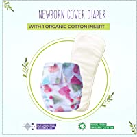 Superbottoms Newborn Cloth Diapers with 1 Dry Feel Soaker (Baby Hearts)