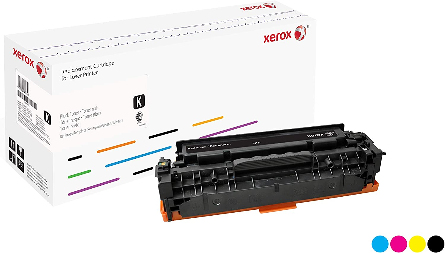 Xerox Remanufactured Cyan Toner Cartridge, Alternative for HP CE321A 128A, 1300 Yield (106R02223)