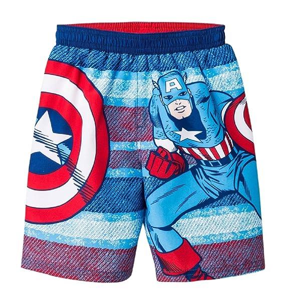 be786b2dd Amazon.com: Marvel BOYS Captain America Shield Toddler Swim Trunks ...