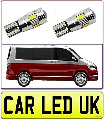 2x For VW Transporter T5.1 T6 White LED Side Light Upgrade Xenon 501 Bulb canbus