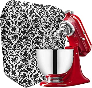 Kitchen Aid Mixer Cover with Pockets, Compatible 5-8 Quart Kitchen Aid Organizer Cover for Kitchen Aid Mixer, Kitchen Aid Mixers and Extra Accessories TFC371