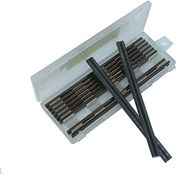 Caja de 10 – 82 mm HSS reversible hojas de cepilladora para Makita, Black & Decker, Bosch, DeWalt and Elu cepillos entrega rápida: Amazon.es: Bricolaje y herramientas