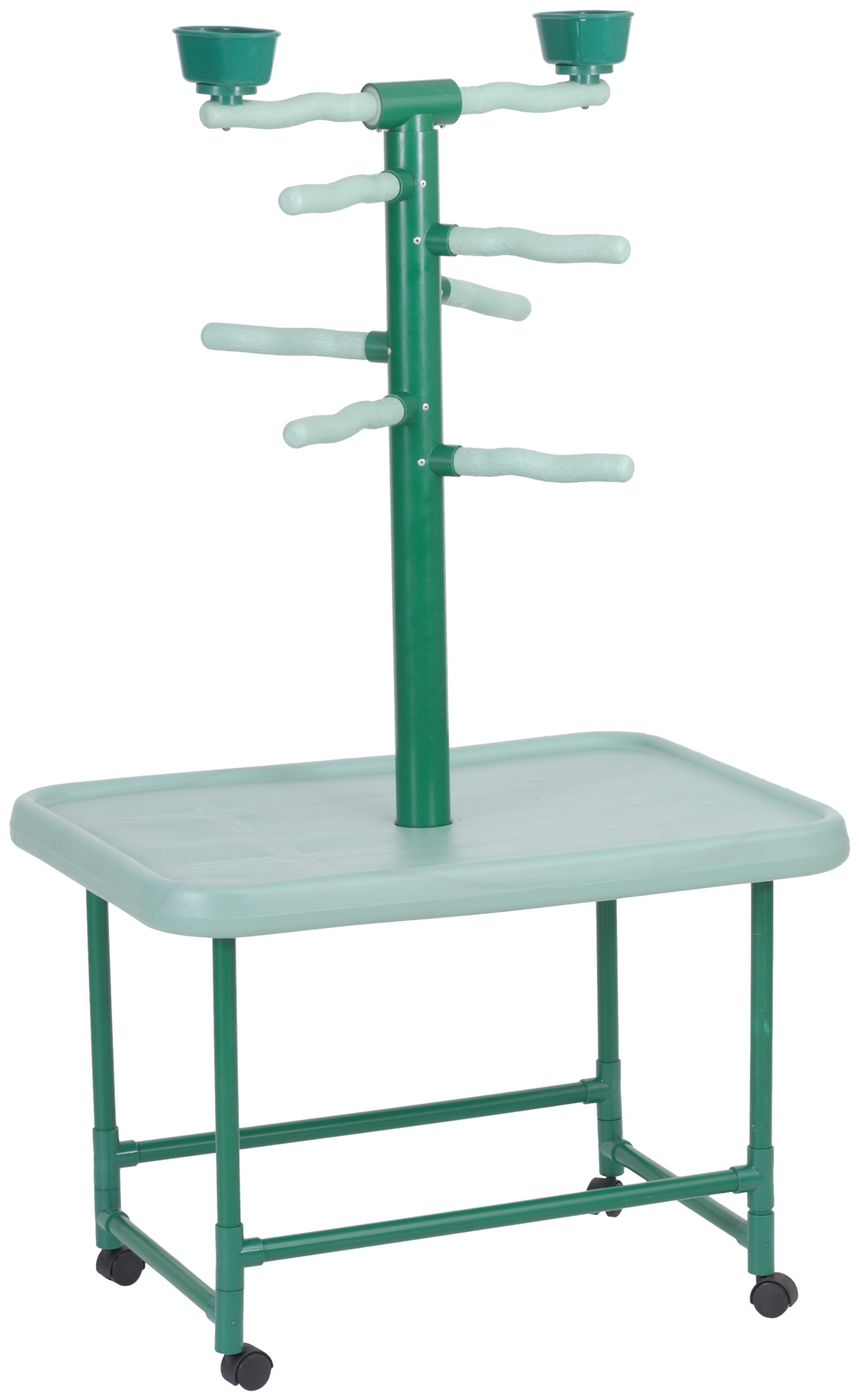Acrobird, Medium Play Tower, 54-Inch H by 22-Foot D by 32-Inch L, Green