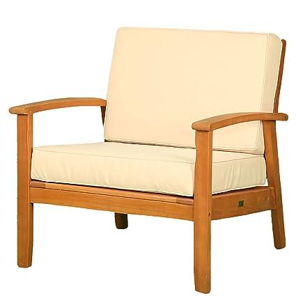 DTY Longs Peak Deep Seat Eucalyptus Chair with Cushions, Outdoor Living Patio  Furniture Collection - - Amazon.com : DTY Longs Peak Deep Seat Eucalyptus Chair With Cushions